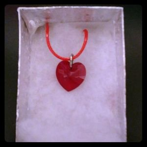 Jewelry - City Red Crystal Heart Necklace
